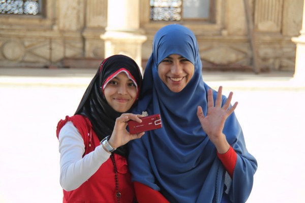Two Girls - Mohammed Ali Mosque - Cairo, Egypt