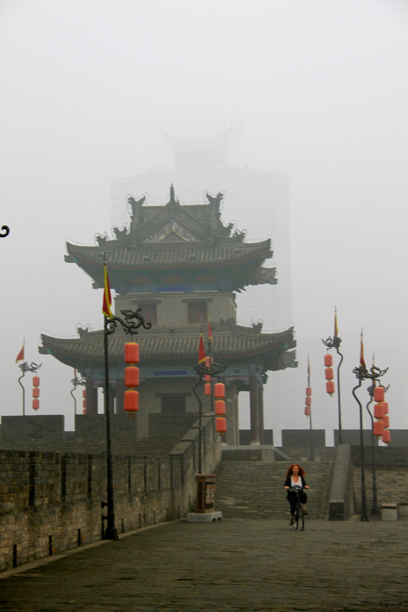 Ancient Walls in the Fog - Xi'an, China - Photo
