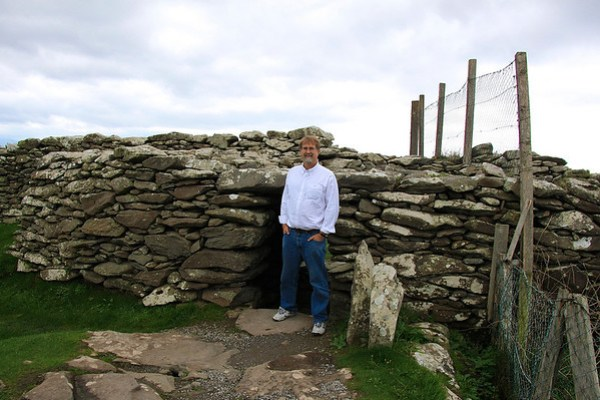 Chris outside an Iron Age Ring Fort, Dingle Peninsula, Ireland