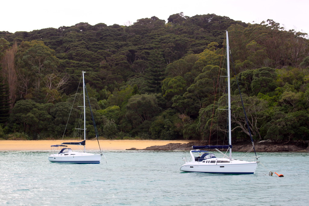 Sailboats and Hidden Beaches - Bay of Islands, New Zealand - Photo