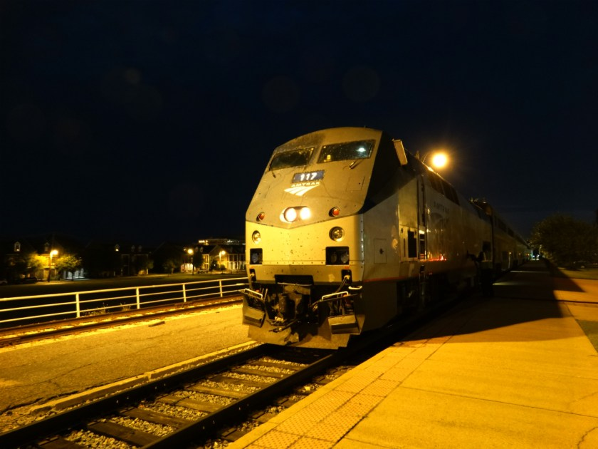 Amtrak train in Memphis