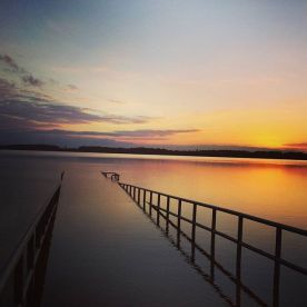 September - Sonnenuntergang am Cossi