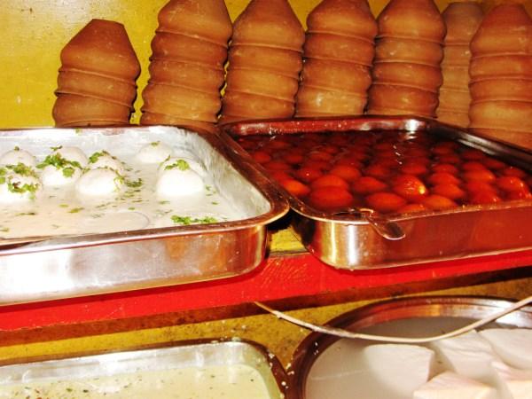 Sweet stall in Varanasi 1