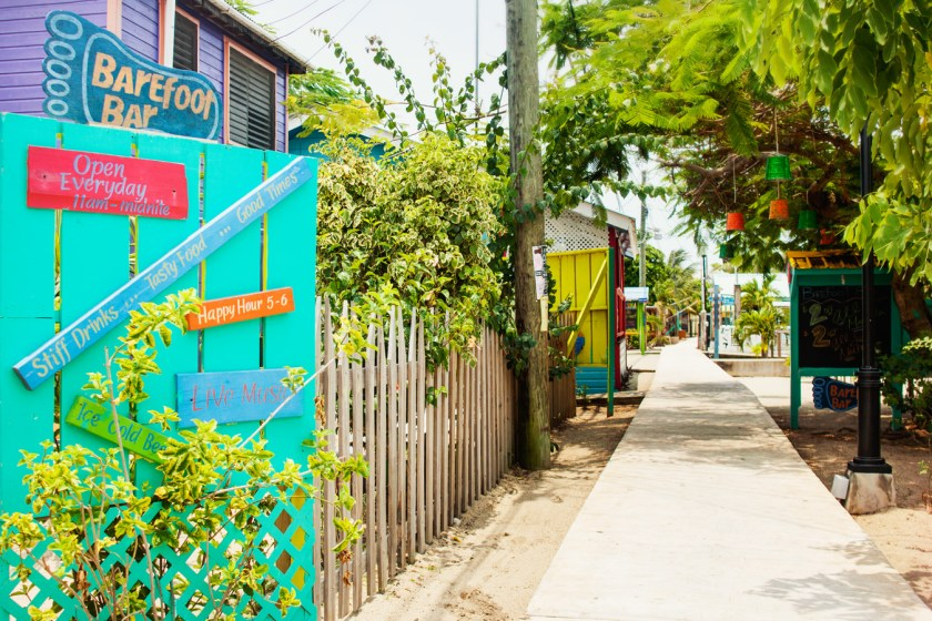 The sidewalk - Placencia, Belize