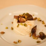 Goat Cheese Panna Cotta with roasted figs