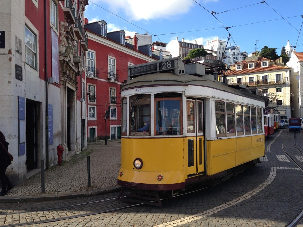 Portugal Lisbon Tram Old Town