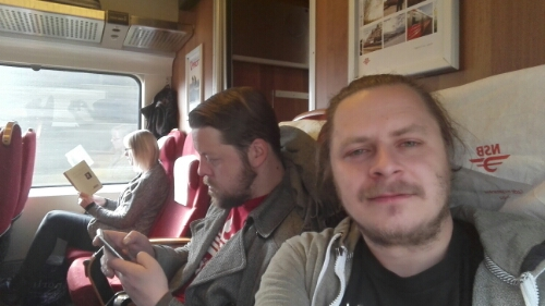On the train for Östersund