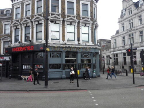 The World's End bar in Camden Town