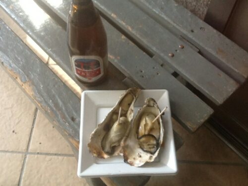The oysters in Miyajima are delicious