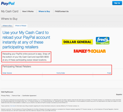 New PayPal My Cash Cards and Online Loading Process (Light Blue PPMCC 0215v1)