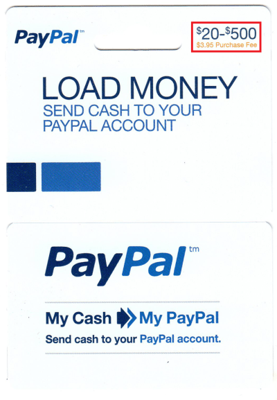 Load PayPal My Cash Cards to your PayPal Account