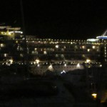 Celebrity ship at night