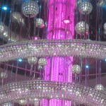 Norwegian Epic chandelier Pink Inner Color on TravelXena.com