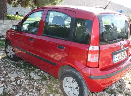 Red-Fiat-Katakolon-Rental TravelXena.com