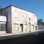 Nassau-Bahamas-Pink-Green-Camouflage-Building