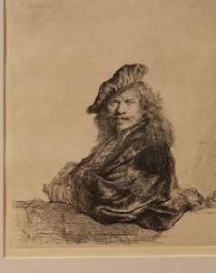Leaning on a Stone Sill Rembrandt Bermuda National Gallery Travel Xena 1