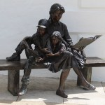 The Joy of Reading Bronze Sculpture Bermuda National Gallery 1
