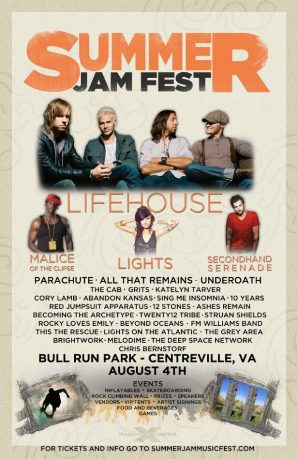 2012 Summer Jam Fest Lineup Underoath, The Rocket Summer, The Cab Announced For Summer Jam