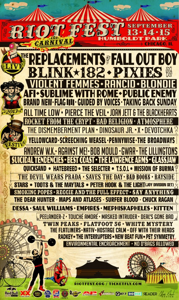 Pixies Andrew W.K. Hatebreed More Added To Riot Fest Chicago Pixies, Andrew W.K., Hatebreed, More Added To Riot Fest Chicago