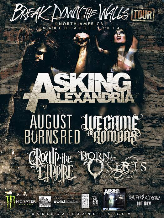 Asking Alexandria August Burns Red We Came As Romans Announce North American Tour Asking Alexandria, August Burns Red, We Came As Romans Announce North American Tour