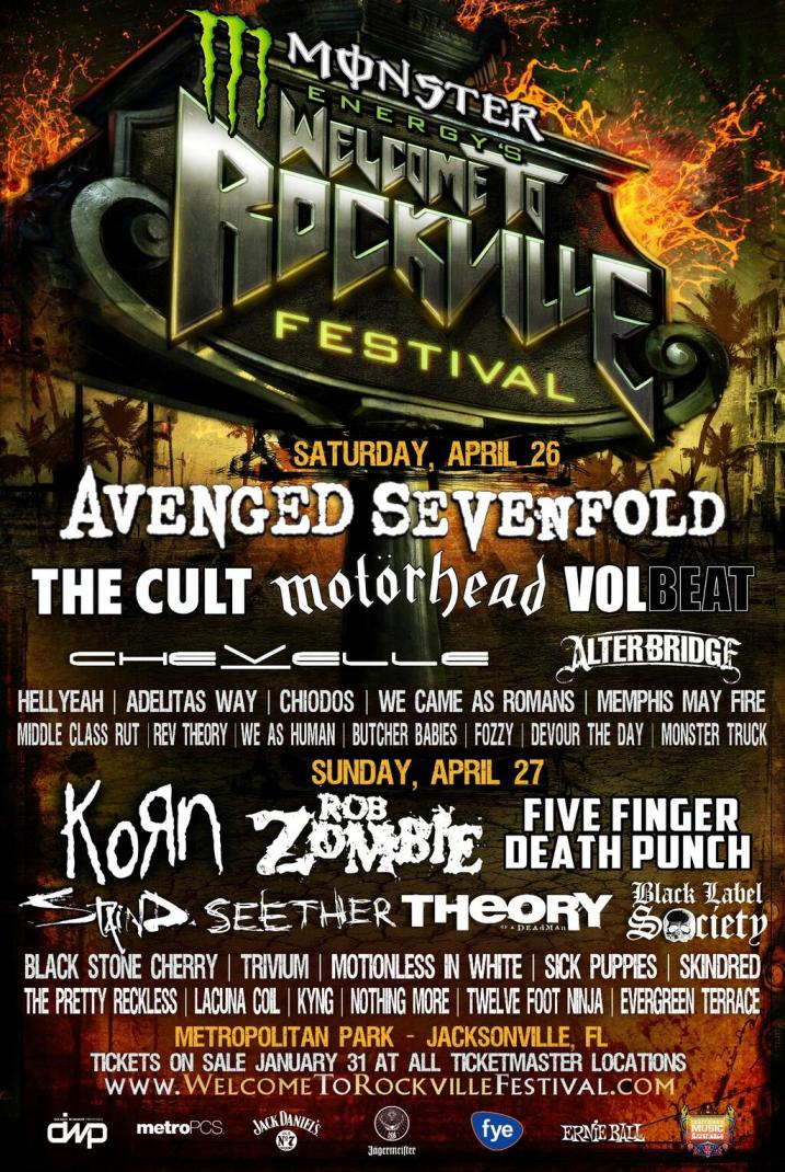 2014 Welcome To Rockville Festival Lineup Avenged Sevenfold, We Came As Romans, Korn, More Announced For Welcome To Rockville