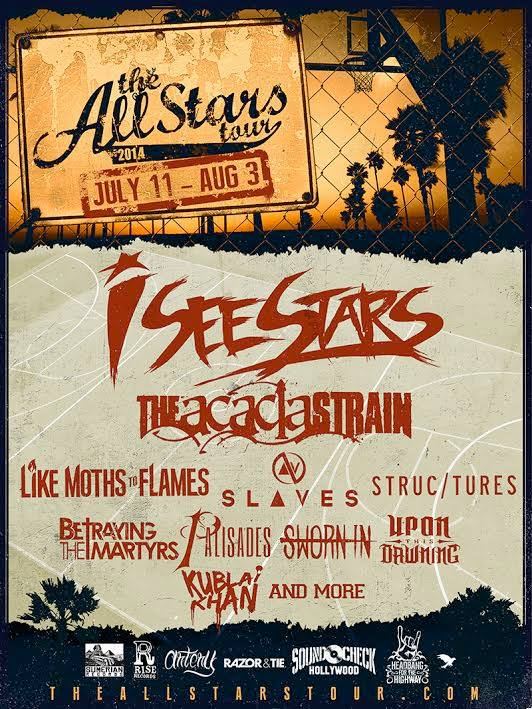 I See Stars The Acacia Strain Like Moths To Flames More Announced For All Stars Tour I See Stars, The Acacia Strain, Like Moths To Flames, More Announced For All Stars Tour