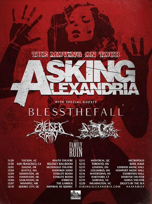Asking Alexandria Announce Tour With Blessthefall Chelsea Grin Upon A Burning Body Asking Alexandria Announce Tour With Blessthefall, Chelsea Grin, Upon A Burning Body