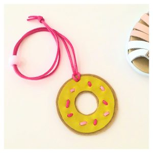 Donut kids leather necklace