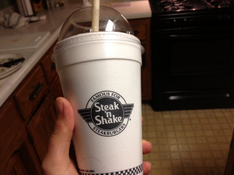 steak n shake milkshake