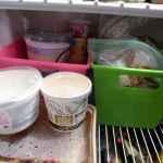inside my fridge treble in the kitchen