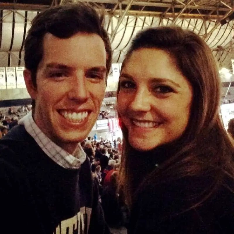 brian and tara at butler game