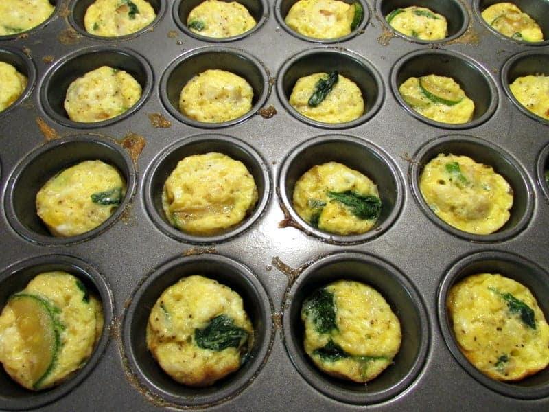 mini crabby egg muffins