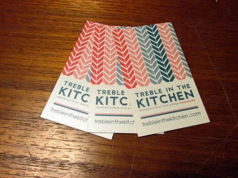treble in the kitchen business cards