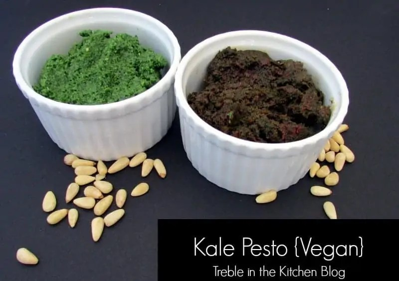 kale pesto via Treble in the Kitchen Blog