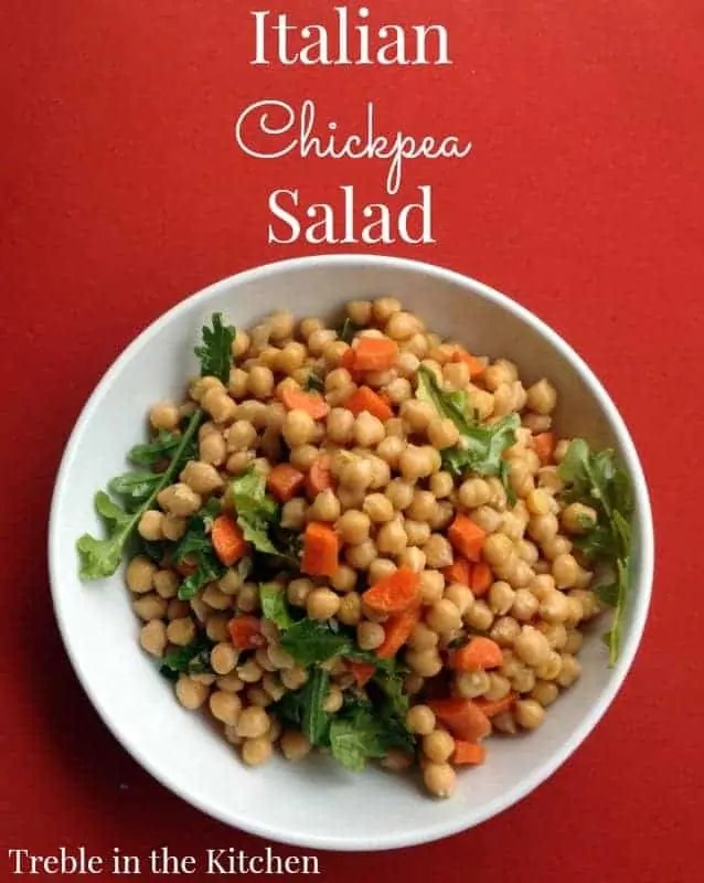 Italian Chickpea Salad via Treble in the Kitchen