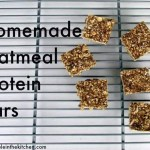 Homemade Oatmeal Protein Bars via Treble in the Kitchen