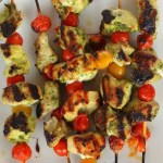 Pesto Chicken Tomato Kabobs