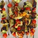 Pesto Chicken Tomato Kabobs from Treble in the Kitchen