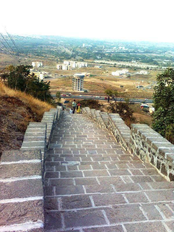 Ghoradeshwar steps to climb