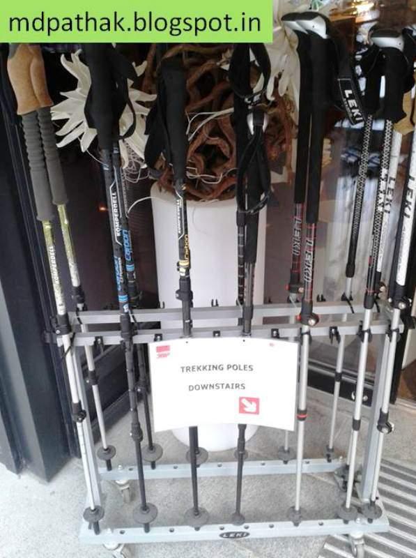 Switzerland road side shop - trekking sticks