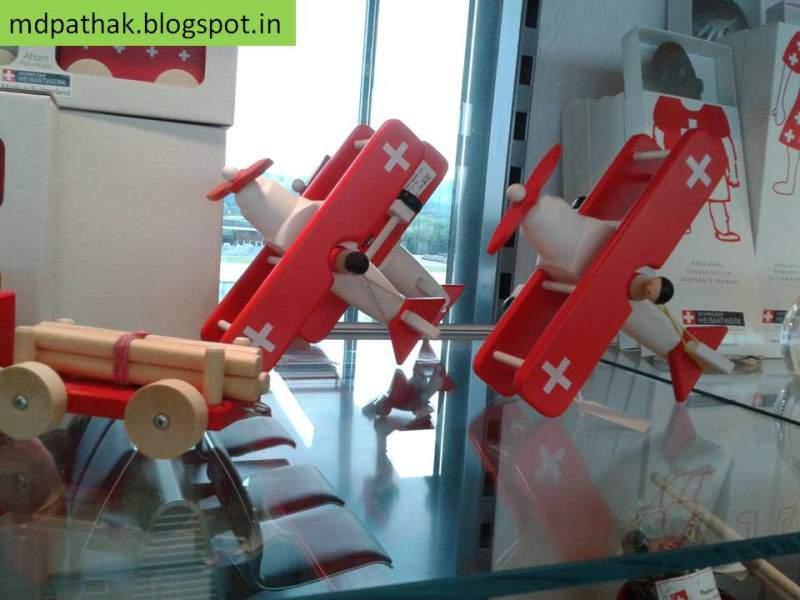 Switzerland souvenirs wooden airplanes