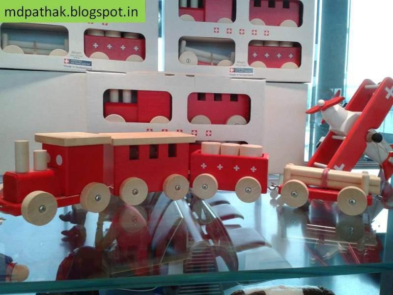 Switzerland souvenirs wooden train