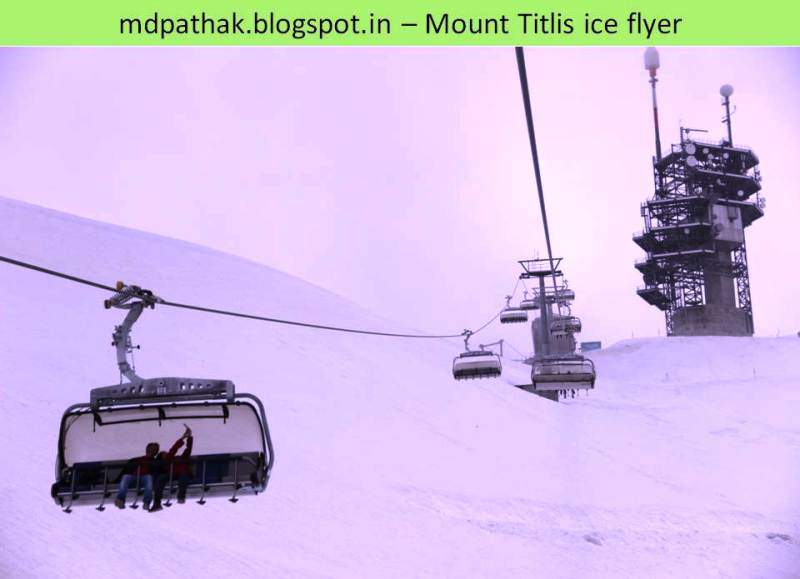 ice flyer at mount titlis