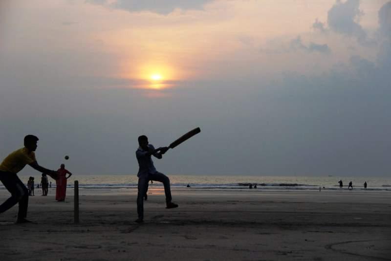cricket on the sea beach