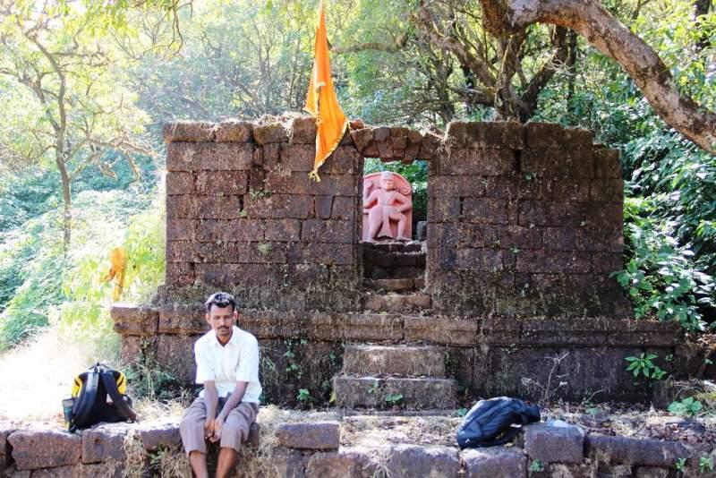Hanuman temple remains of vasota