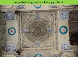 Amruteshwar temple carving on roof