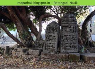 remains of temple in ratanwadi trek to ratangad