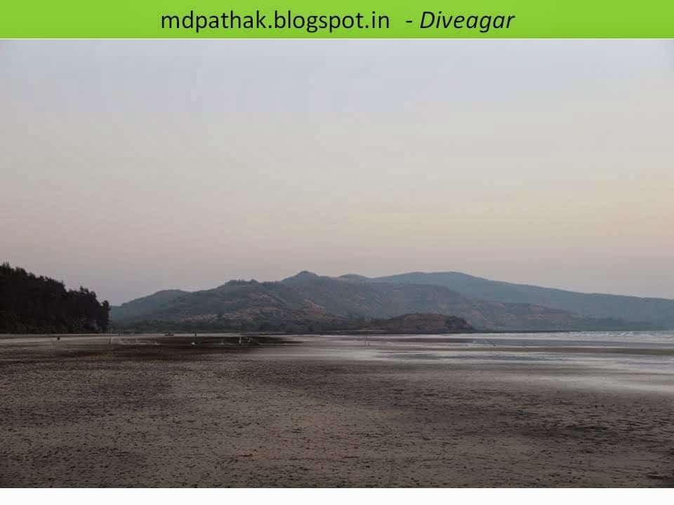 calm and quiet sea beach of diveagar