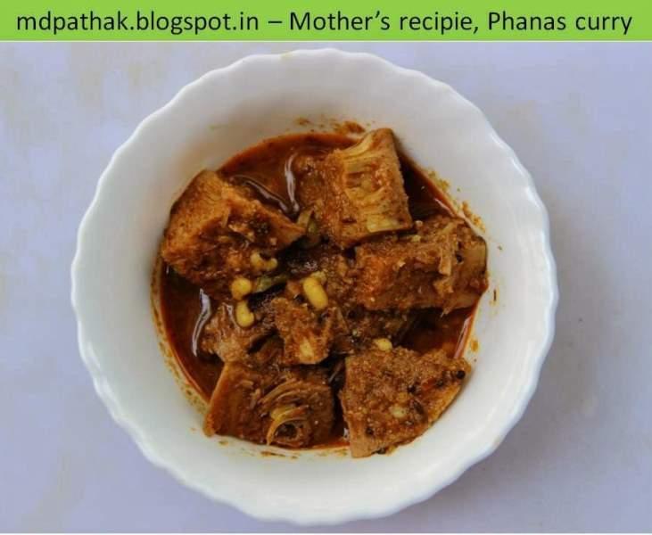 kachya phansachi bhaji Unripe jackfruit vegetable curry
