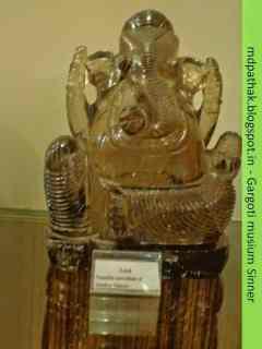 lord Ganesha carved out of smokey quartz